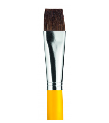 Ox ear hair, flat tip artistic brush