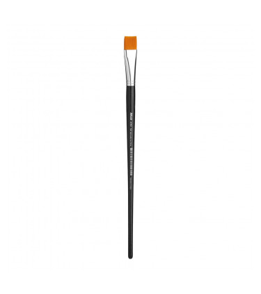 Synthetic bristle, flat tip artistic brush